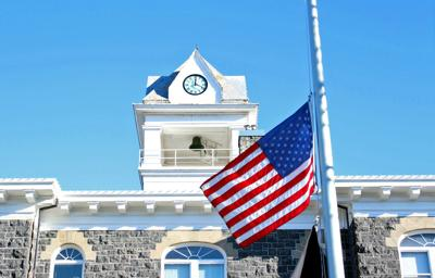 Courthouse flag at half-staff
