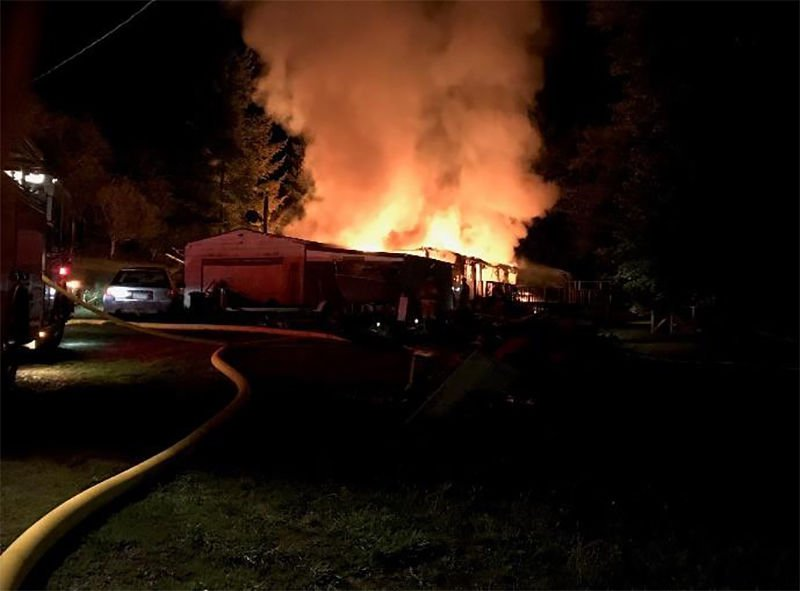 Tide Creek Structure Fire in Rainier