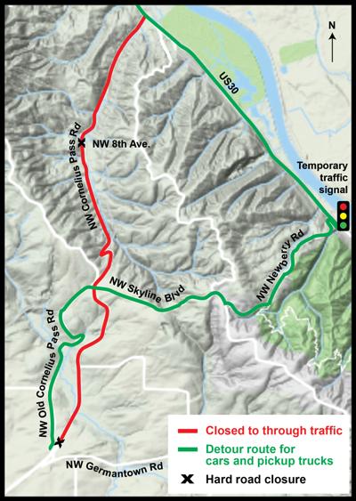 CornPass car detour route 5-15-19.png