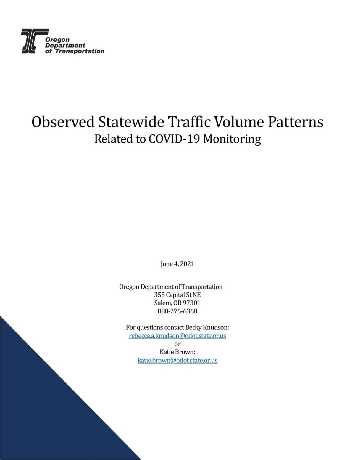 ODOT Statewide Traffic Volume Report