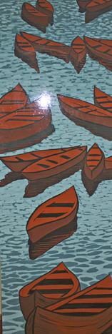 23 canoes of peace banner