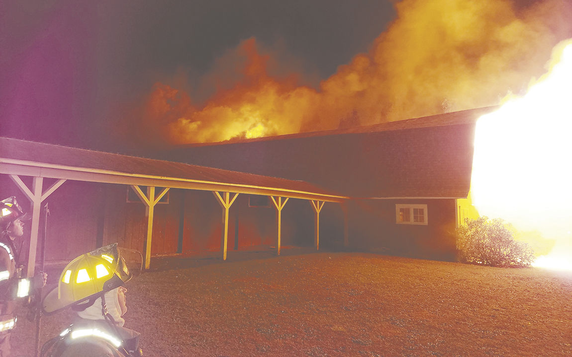 Union City Livestock Auction barn destroyed by fire