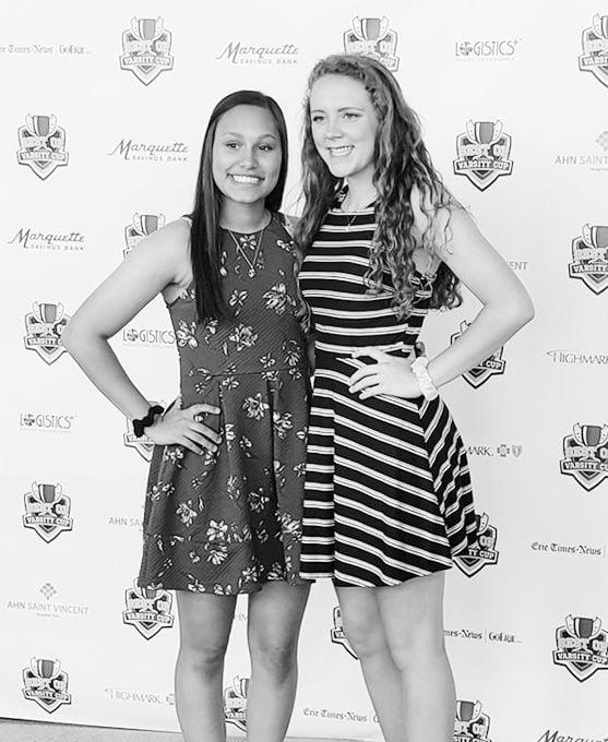 Maddie Vona (left) and Brooke Joncas