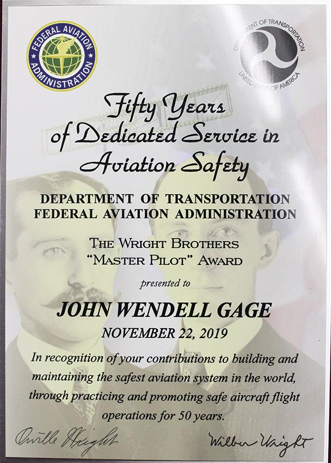 "The Wright Brothers ""Master Pilot Award"""