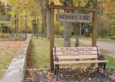 Bench honors longtime Mead Park secretary