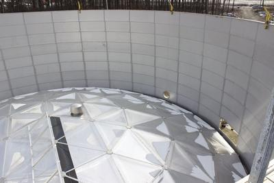 Water storage tanks get domes