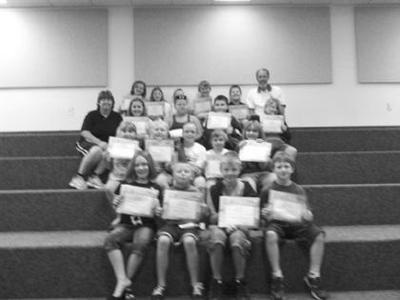 Terrific kids awarded for 2nd week of summer camp