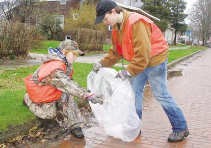 Rain can't wash away cleanup day