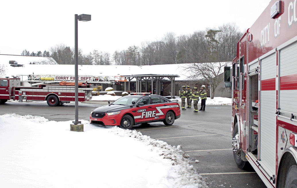 Fire call at Corry Manor