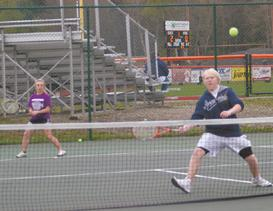 Warren remains undefeated shuting out Corry in tennis
