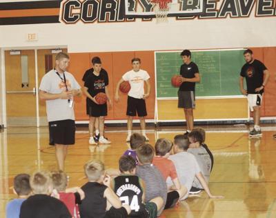 Corry boys head basketball coach Tyler Bailey