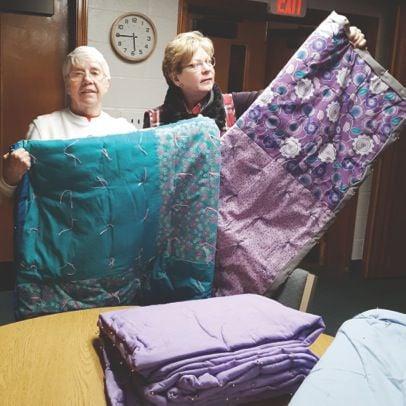 Janet Capper, left, and Laurie Albright, both of Beaverdam Mennonite Church