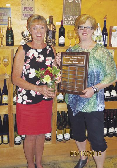 Community Women's Club honors its  Outstanding Member Award recipient