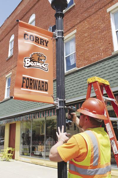 Corry pride banners