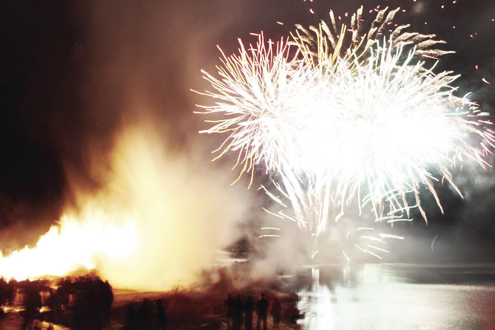Spartansburg New Year fireworks
