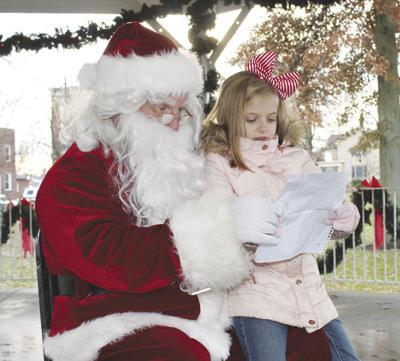Santa in Corry City Park