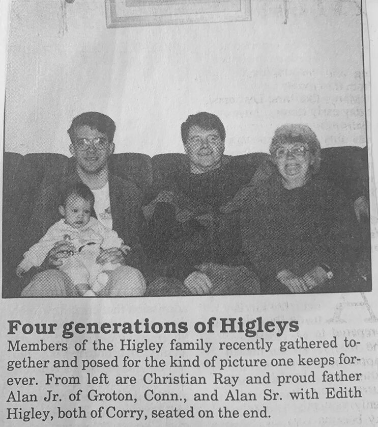 4 generations of Higleys