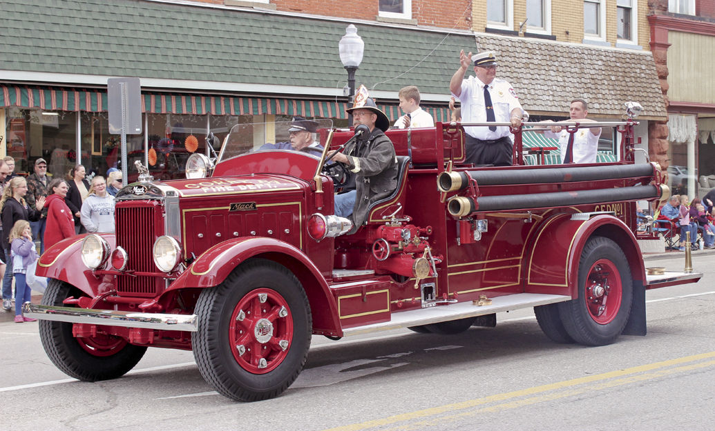 Historic firetruck for CorryFest