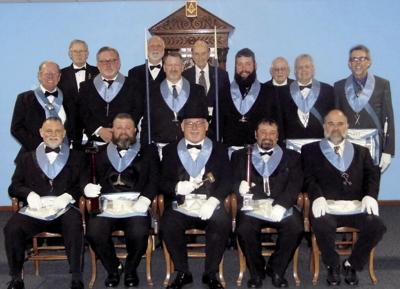 Masonic officers installed