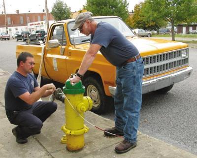 Final hydrant testing