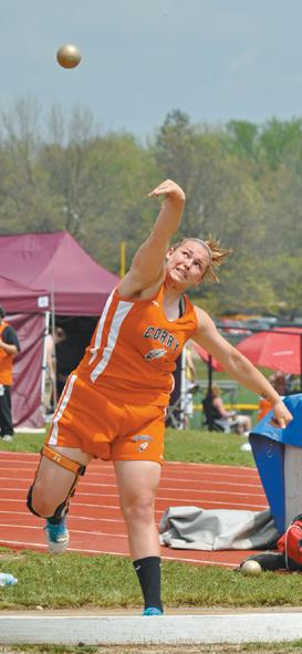 Sky's the limit for Corry throwers