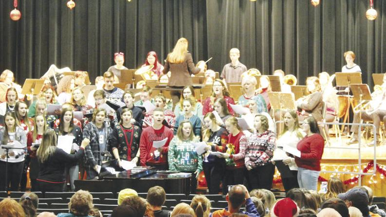 Christmas concert at high school