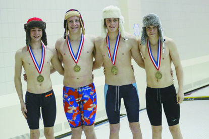 The relay with their hats