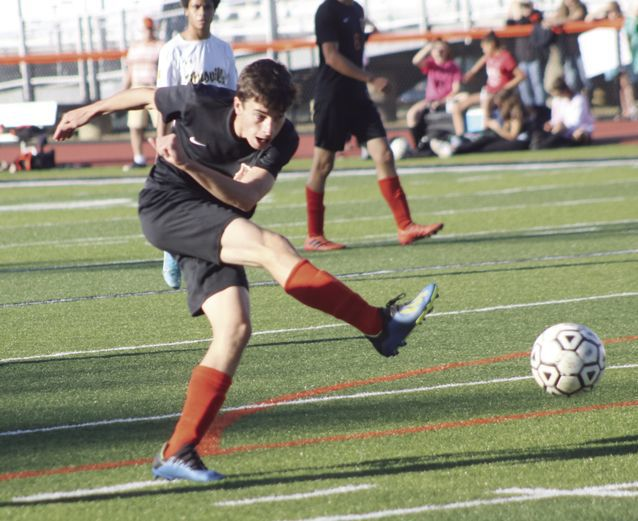 Caleb Kafferlin kicking.