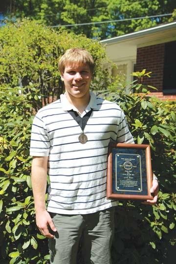 Aaron Meehl honored with award