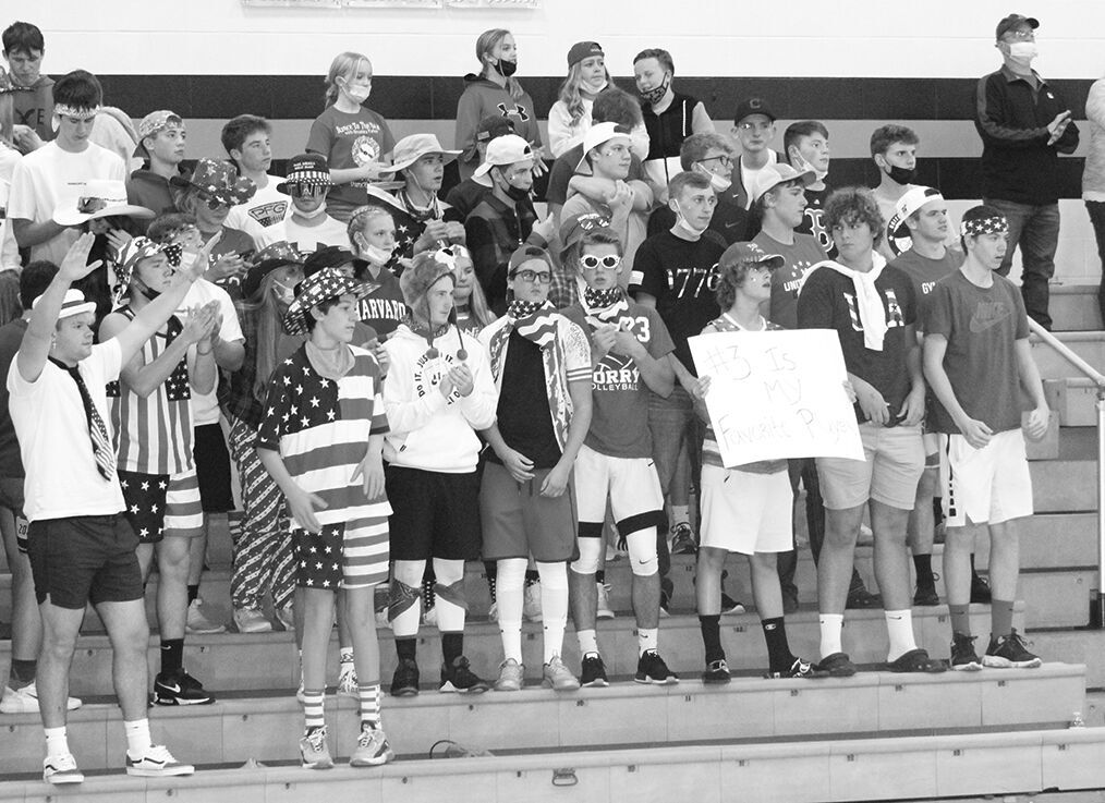 Corry volleyball cheering section
