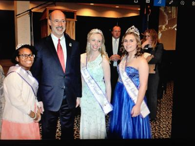 Grape Queen and Princesses visit 100th PA Farm Show