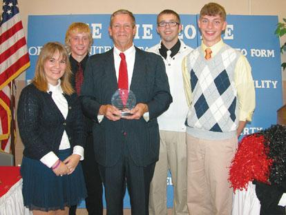 Students honor Mitchell for work at local, state level