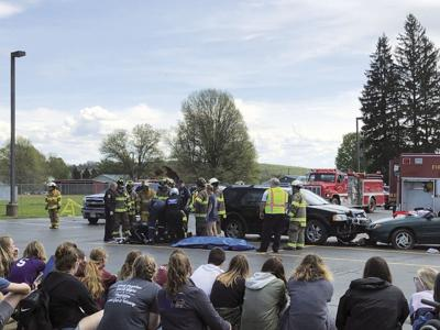 Mock accident at Clymer