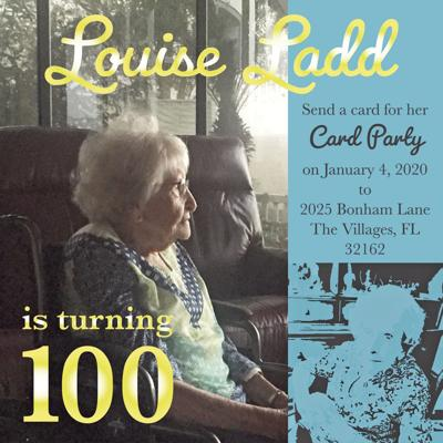 Louise Ladd 100th Card Party