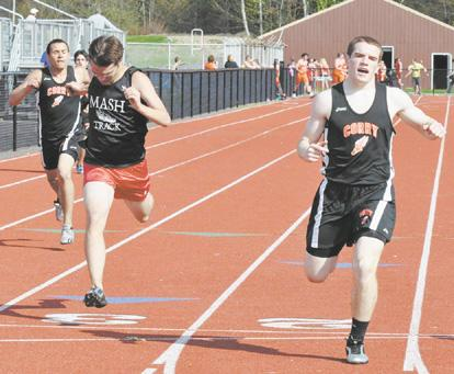 Corry boys win in season's final track meet at home