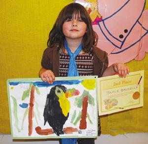Corry kindergartener's painting places in regional art competition