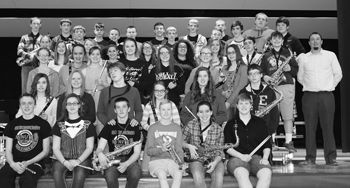 Clymer band students