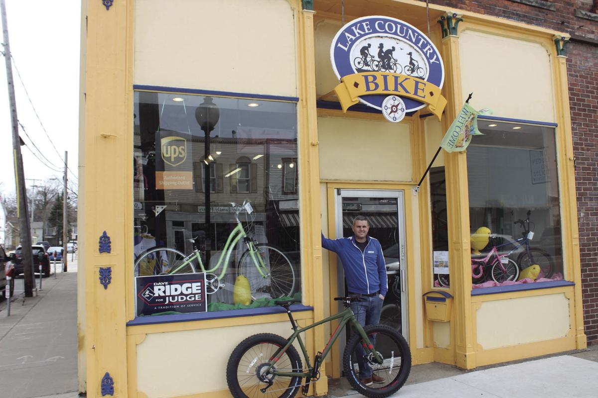 New owner rides in at Lake Country Bike
