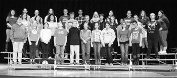 Clymer chorus students