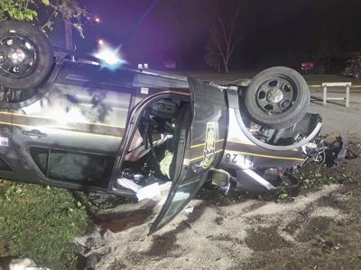 Troopers hospitalized after pursuit, crash