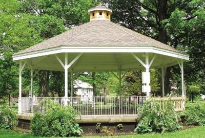 Foundation grant covers gazebo with roof, paint