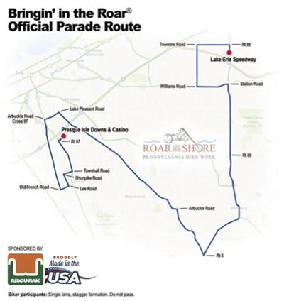 Roar on the Shore sets new parade route
