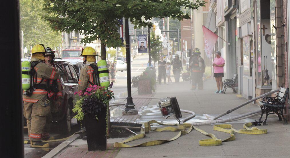 Center Street fire