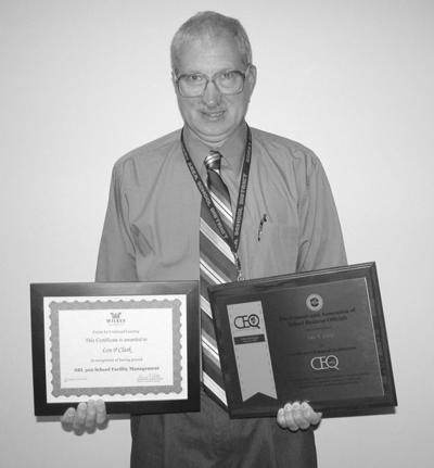Clark receives certificate of enhanced qualifications