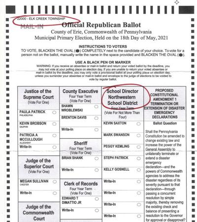 Error on mail in ballots