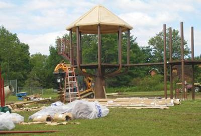Sparty playground takes shape