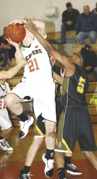 Corry's Ted Mickel fouled.