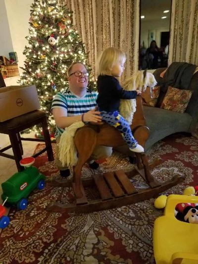 Buster continues to delight young family members
