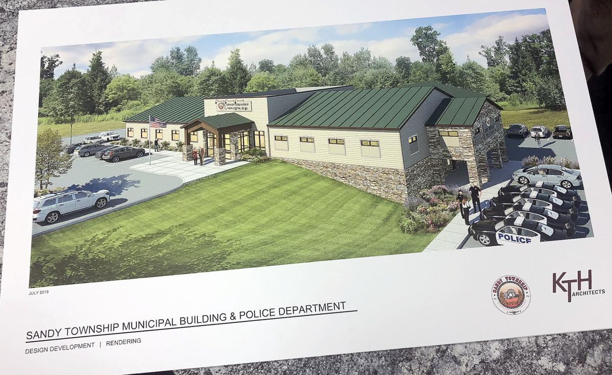 Picture of proposed new municipal building in Sandy Township