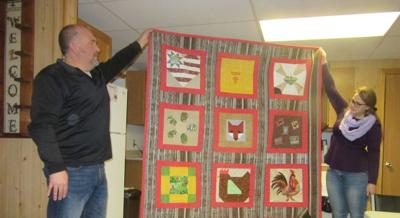 Quilt blocks from last year's competition made into quilt